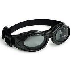 Doggles ILS Medium Metallic Black Frame and Smoke Lens, My Pet Supplies