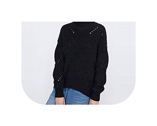 Jumpers Turtleneck Thick Knitted Oversize Pullovers Tops,Gray,M (Iron On Name Labels For Clothes Uk)