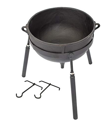 COOKAMP 10-Gallon Heavy Duty Cast Iron Jambalaya Pot, with Stand [JA10] (Jambalaya Pot Stand)
