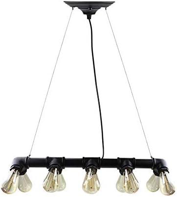 WINSOON Retro Industrial Steampunk LAMP Iron Pipe Island Ceiling Fixture Pendant Light Vintage Black