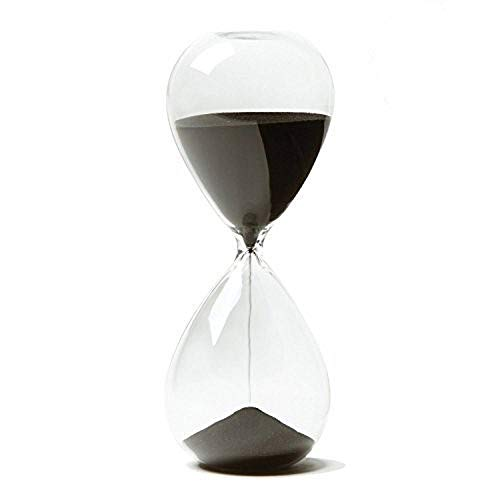 Graces Dawn Transparent Glass Hourglass Sand Timer 60 Minutes with (Black)