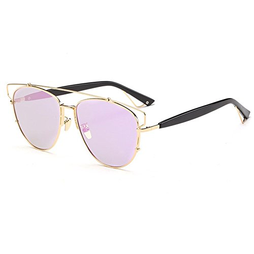 SRANDER Wayfarer Fashion Metal Frame Reflective Sunglasses Eyewear Polarized UV400 Driving - Bans 1950s Ray