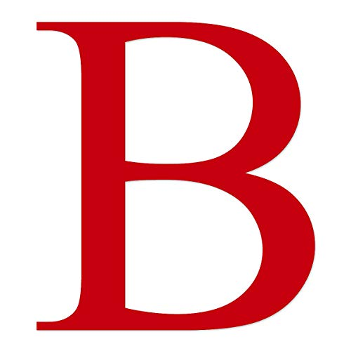 Applicable Pun Beta Greek Letter B - Vinyl Decal for Outdoor Use on Cars, ATV, Boats, Windows and More - Red 3 Inches Tall