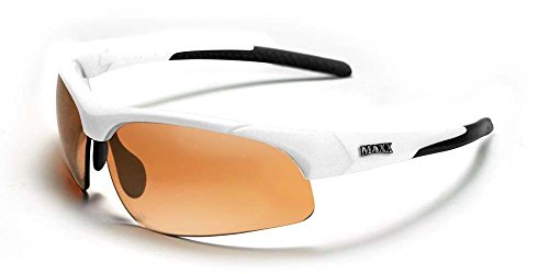Maxx Stingray White V-Touch Frame with Polycarbonate Amber Lens Sunglasses