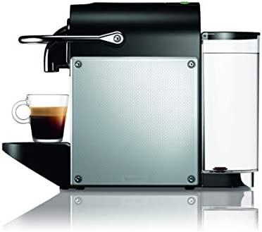 Nespresso DeLonghi Pixie EN124.S Cafetera monodosis cápsulas, 19 Bares, depósito Agua 0.7 L, Apagado automático, Plata