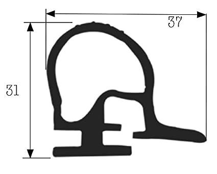 Dichtung für Mont. Widerstand – Abm. Profil 37 x 31 mm Schwarz für ...