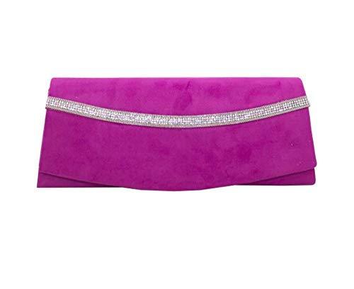 Clutch Purple Embellishment Haute Bag Women Diva Purple for Diamante HIxFwFXW0q