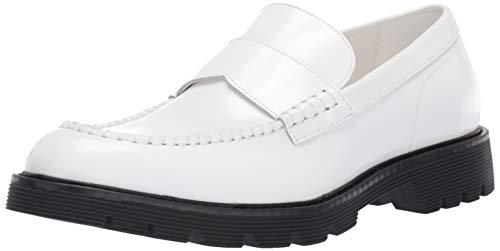 Calvin Klein Men's Fletcher Loafer, White Box Leather, 11 M M US
