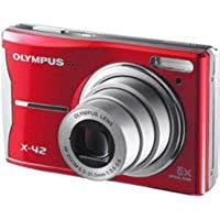 Olympus X-42 12 MP Digital Camera, 5x Optical Zoom, Red - Refurbished by Olym... Advantages Review Image
