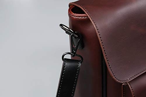 in de Cartera Cuero Portátil Bolso Bag Crossbody Mochila de de Nylon Bolso Escuela Messenger Ordenador de Bolso Kaffee Hombro 1 Marrón Popoti Hombres 3 de del Bolso Impermeable qB6XPv