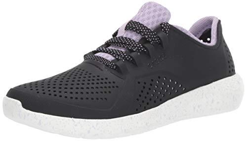 - Crocs Women's LiteRide Graphic Pacer Sneaker, Black/White, 5 M US