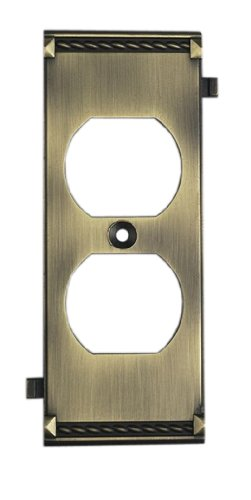 Elk 2503AB Antique Brass Middle Switch (Brass Middle Switchplate)