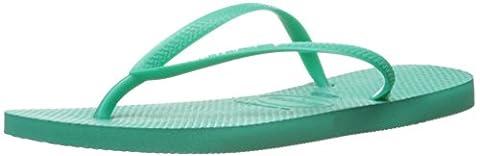 Havaianas Women's Slim Sandal Flip Flop, Mint Green, 41 BR/11/12 W US (Green Flip Flops)