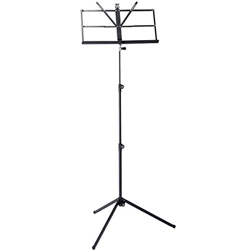 K&M 10040 | Three Piece Folding Music Stand Black