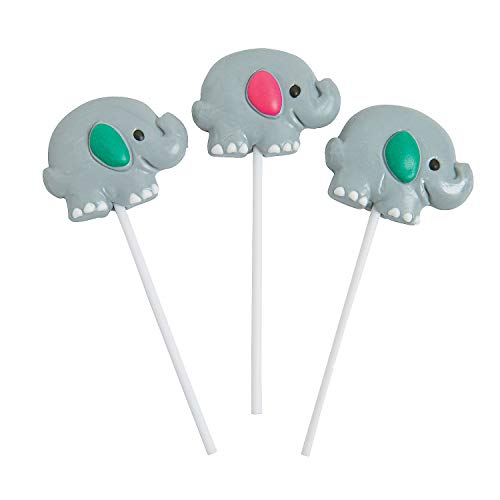 (Fun Express - 1st Elephant Character Suckers for Birthday - Edibles - Sucker & Pop - Character Suckers - Birthday - 12 Pieces)