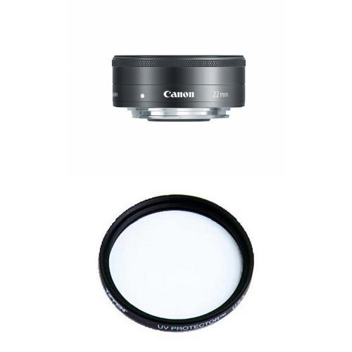 Canon EF-M 22mm f2 STM Compact System Fixed Lens Filter Bundle