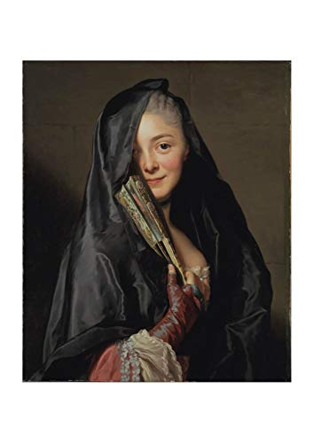 Spiffing Prints Alexander Roslin - The Lady with The Veil - Large - Semi Gloss - Framed