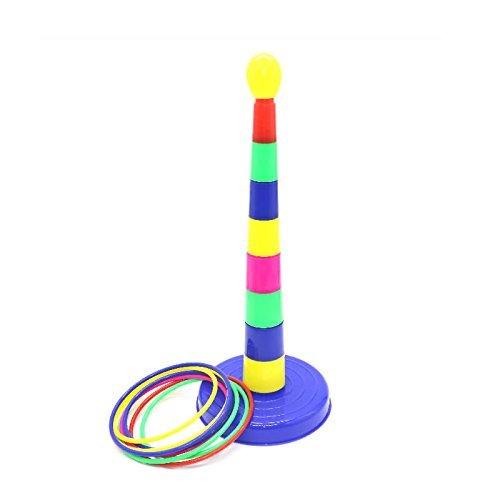 "IDS 18"" Colorful Plastic Sport Ring Toss Game Set"
