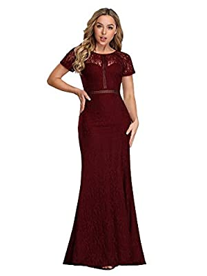 Ever-Pretty Women Elegant A Line Long Bridesmaid Dress with Lace EZ07752