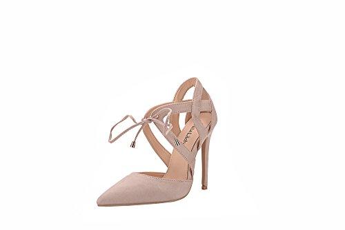 Mila Lady Nydia Dorsay Classico Pizzo Caviglia Strappy Eleganza Piattaforma Tacchi Donna! Nudo