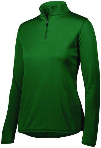 (Augusta Sportswear Women's Attain 1/4 Zip Pullover 2XL Dark Green)