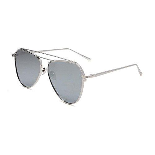 UV Hombres Marco gafas de WYYY Gris Gris Luz sol Retro Clásico UVA Protección 100 Redondo Anti Polarizada Espejo Sra Color Decoración Protección Solar wIU0Udq