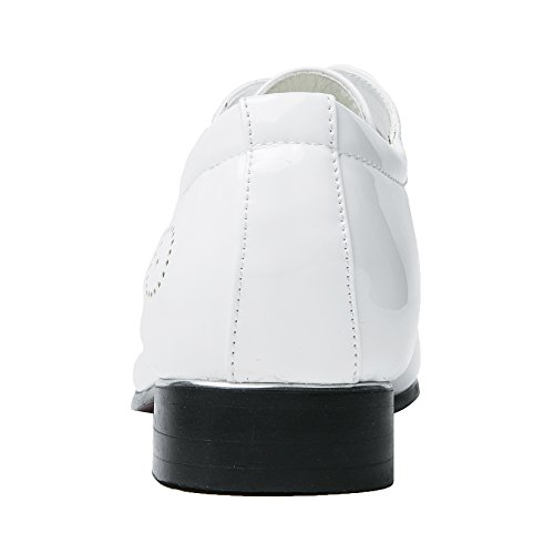 Kleding Schoenen Voor Mannen Spitse Neus Klassiek Lakleer Veter Oxford Santimon Blauw Rood Wit Rood