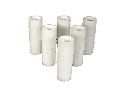 """Set of 6 pc. 4"""" Tall White LARGE DIAMETER Edison WIDE for sale  Delivered anywhere in USA"""