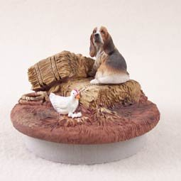 """Basset Hound Candle Topper Tiny One """"A Day on the Farm"""""""