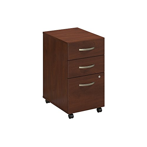 Bush Business Furniture Series C Elite 3 Drawer Mobile Pedestal, Hansen Cherry
