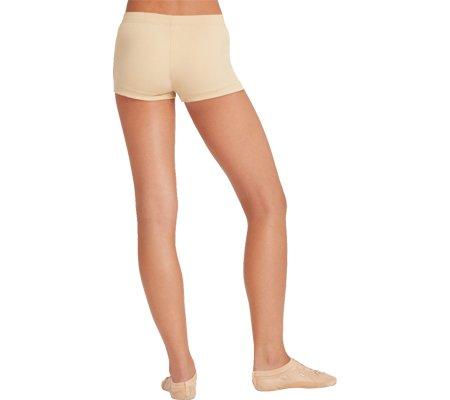 Capezio Dance Girls Boy Cut Lowrise Short,Nude,US L