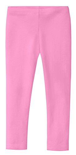 Princess Bubblegum Clothes (City Threads Girls' Leggings 100% Cotton School Uniform Sports Coverage Play Perfect Sensitive Skin SPD Sensory Friendly Clothing, Bubblegum Pink, 9/12)