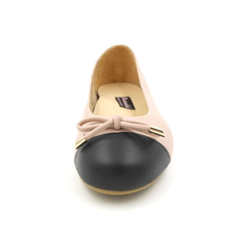 Minimalistische Dames Lamsvacht Katy Ballet Flats Roze