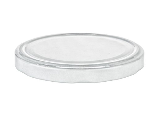 Nakpunar 24 pcs 100TW White Canning Lids - BPA Free Plastisol lined, 6 Lugs, Made in (Canning Replacement Lids)