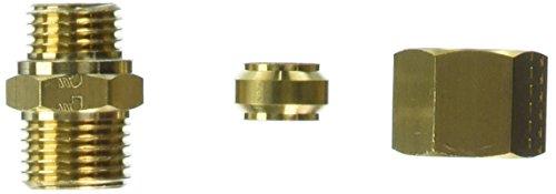 Legris 0101 10 71 Brass Compression Tube Fitting, Adaptor, 10 mm Tube OD x M14x1.5 Male Metric Thread