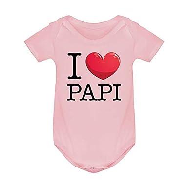 sous v/êtement Fantaisie Enfant I Love Papi Ma Petite Vitrine Body Coton Humour b/éb/é