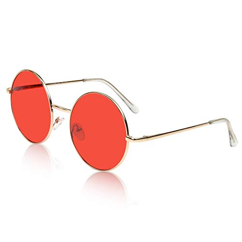 Sunny Pro John Lennon Sunglasses For Boys Alloy Unisex Eyeglasses For Men Red -