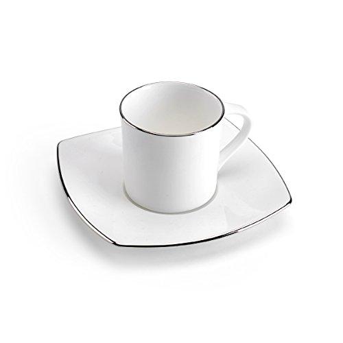 Mikasa Couture Platinum Espresso Cup and Saucer Set