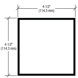 CRL-U.S. Aluminum 4-1/2'' x 4-1/2'' x .125'' Square Aluminum Tube, Black Anodic- 24'-2''