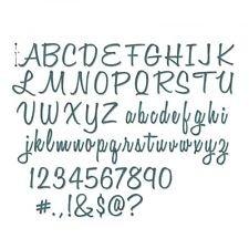 Sizzix Thinlits Die Set 69 PK - Alphanumeric Script (1'' Tall) by Tim Holtz, 662228