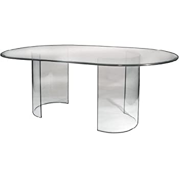 Amazoncom See Glass Dining Table Base Only Tables