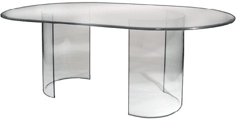 See Glass Dining Table - Base Only (Oval Dining Table Pedestal Base)