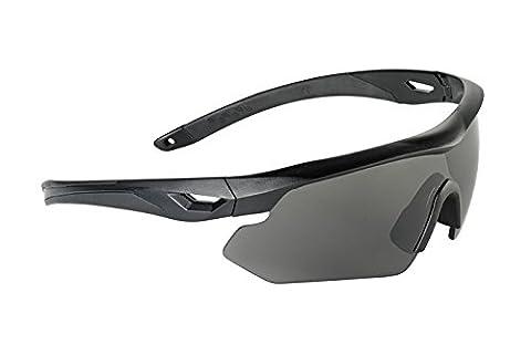 Swiss Eye Nighthawk Sunglasses 3 Changeable Lenses Black Rubber