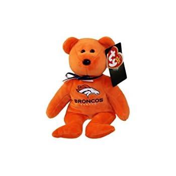 Amazon Com Denver Broncos Nfl Ty Beanie Baby Teddy Bear Plush 8 5