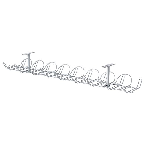 Ikea Cable Management Bundle Includes - Two Ikea Signum Cable Management Horizontal (Silver, 27 ½'') and One Ikea Fixa (114 Piece Cable Management Set) by IKEA (Image #1)