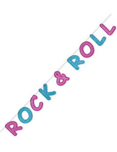 [Glittered Rock & Roll Streamer Party Accessory (1 count) (1/Pkg)] (Sock Hop 50s Costumes)