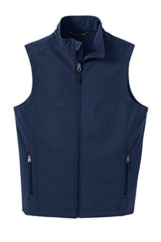 Port Authority Core Soft Shell Vest J325 - Dress Blue Navy J325 2XL (Soft Vest Fleece)