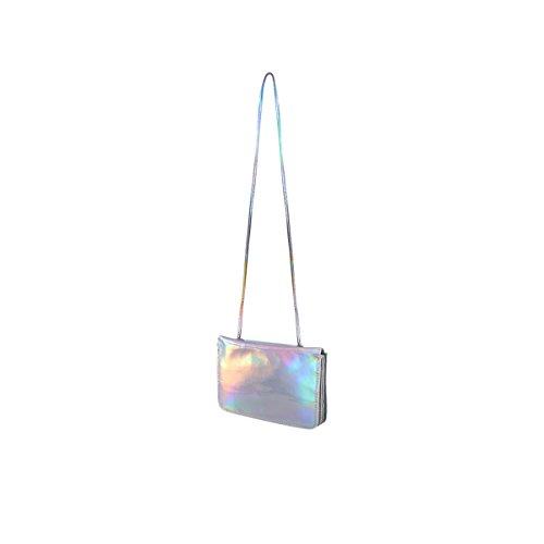 Tinksky Borsa holografica lucida ologramma ologramma borsa a tracolla Borsa crociera borsa borsa regalo di compleanno di Natale per le donne (multicolore)