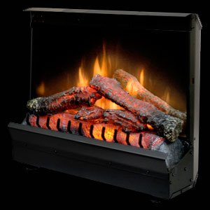 Dimplex DFI2310 Electric Fireplace Deluxe 23-Inch Insert, Black- POrtable Fireplaces- Installs Easily- Operates With or Without Heater for All-Season - Carved Electric Fireplace