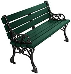 Kirby Built Products 4 Recycled Plastic Classic Park Bench – Evergreen
